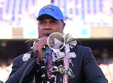 Junior Seau San Diego Chargers Hall of Fame Induction